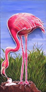 FLAMINGO - (3D element: body, feathers and legs)  SOLD
